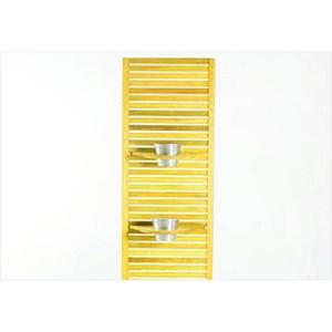 Jardineira Completa Zen Estreita com Almofada Cru 01.237 Stain Amarelo - Mão & Formão