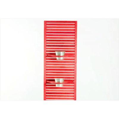Jardineira Completa Zen Estreita com Almofada Cru 01.237 Stain Vermelho - Mão & Formão