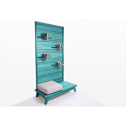 Jardineira Vertical Zen Stain Azul - Mão & Formão
