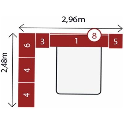 Jogo de Quarto Casal Modulado Modena CP10 Nogal - Demóbile