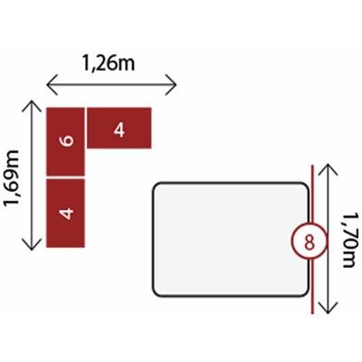 Jogo de Quarto Casal Modulado Modena CP11 Branco - Demóbile
