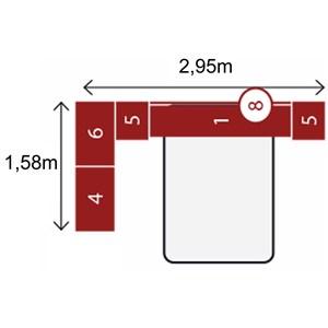 Jogo de Quarto Casal Modulado Modena CP16 Nogal - Demóbile