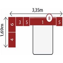 Jogo de Quarto Casal Modulado Modena CP2 Branco - Demóbile