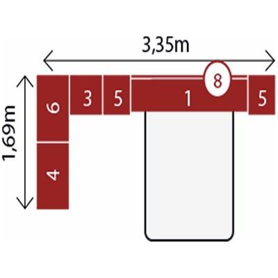 Jogo de Quarto Casal Modulado Modena CP2 Nogal - Demóbile