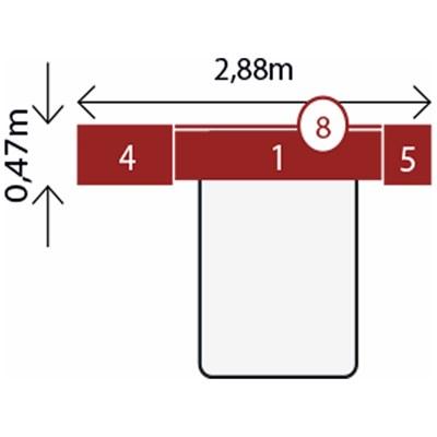 Jogo de Quarto Casal Modulado Modena CP4 Branco - Demóbile