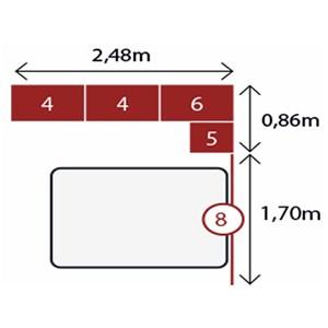 Jogo de Quarto Casal Modulado Modena CP5 Branco - Demóbile