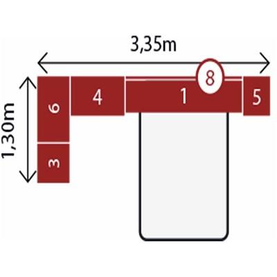 Jogo de Quarto Casal Modulado Modena CP6 Nogal - Demóbile