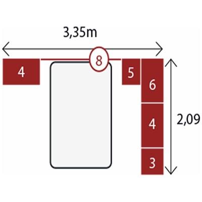 Jogo de Quarto Casal Modulado Modena CP7 Branco - Demóbile