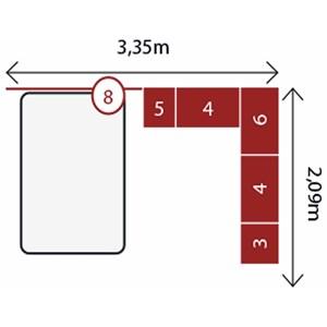Jogo de Quarto Casal Modulado Modena CP8 Branco - Demóbile