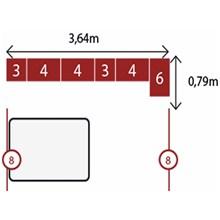 Jogo de Quarto Casal Modulado Modena CP9 Branco - Demóbile
