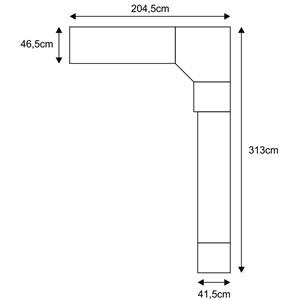 Jogo de Quarto Casal Modulado Smart 029 Crema/Amêndoa - Eucamóveis