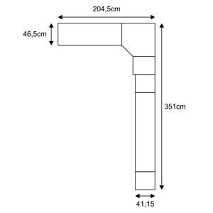 Jogo de Quarto Casal Modulado Smart 031 Crema/Amêndoa - Eucamóveis