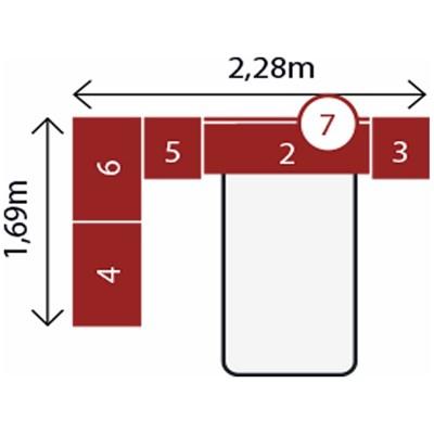 Jogo de Quarto Solteiro Modulado Modena CP12 Branco - Demóbile