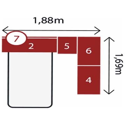 Jogo de Quarto Solteiro Modulado Modena CP13 Branco - Demóbile