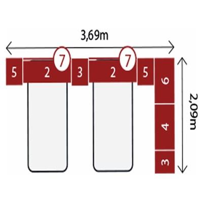 Jogo de Quarto Solteiro Modulado Modena CP14 Branco - Demóbile