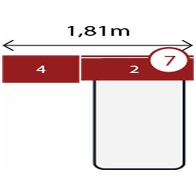 Jogo de Quarto Solteiro Modulado Modena CP15 Branco - Demóbile