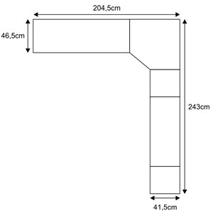 Jogo de Quarto Solteiro Modulado Smart 003 Crema/Amêndoa - Eucamóveis