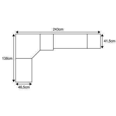 Jogo de Quarto Solteiro Modulado Smart 043 Crema/Amêndoa - Eucamóveis