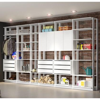 Jogo Modulado para Varanda Garagem Clothes Branco - BE Mobiliário