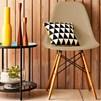 Kit 04 Cadeiras Eiffel Charles Eames Nude com Base de Madeira DSW