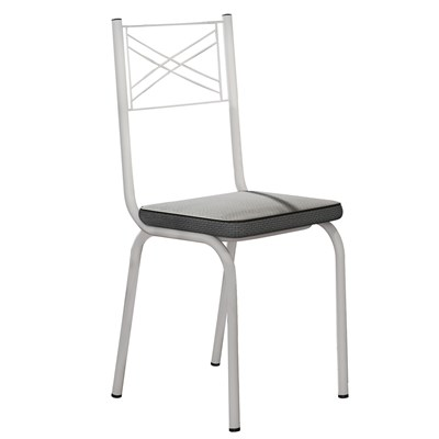 Kit 2 Cadeiras 119 Europa Branco/Platina - Artefamol