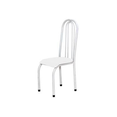 Kit 2 Cadeiras Altas 0.123 Anatômica Branco/Branco - Marcheli