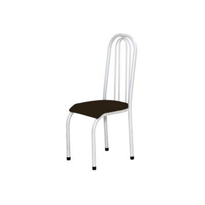 Kit 2 Cadeiras Altas 0.123 Anatômica Branco/Marrom - Marcheli