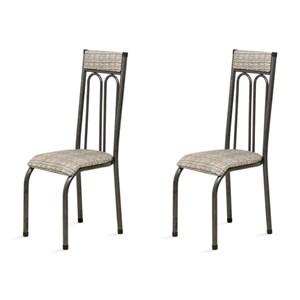 Kit 2 Cadeiras Anatômicas 0.120 Estofada Craqueado/Bege - Marcheli