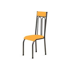 Kit 2 Cadeiras Anatômicas 0.120 Estofada Craqueado/Laranja - Marcheli
