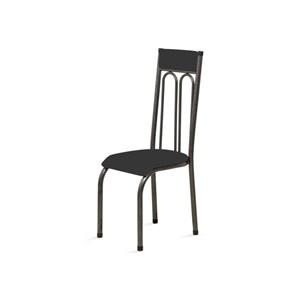 Kit 2 Cadeiras Anatômicas 0.120 Estofada Craqueado/Preto - Marcheli