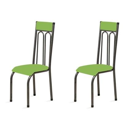 Kit 2 Cadeiras Anatômicas 0.120 Estofada Craqueado/Verde - Marcheli