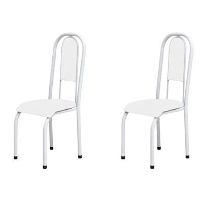 Kit 2 Cadeiras Anatômicas 0.122 Estofada Branco - Marcheli