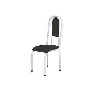 Kit 2 Cadeiras Anatômicas 0.122 Estofada Branco/Preto - Marcheli