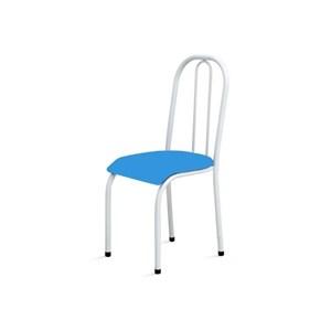 Kit 2 Cadeiras Baixas 0.104 Anatômica Branco/Azul - Marcheli