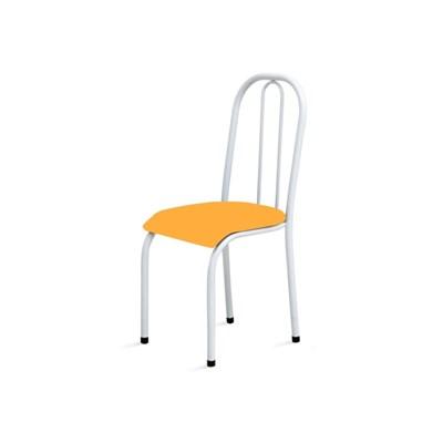 Kit 2 Cadeiras Baixas 0.104 Anatômica Branco/Laranja - Marcheli