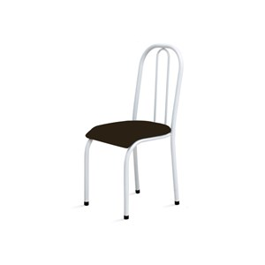 Kit 2 Cadeiras Baixas 0.104 Anatômica Branco/Tabaco - Marcheli