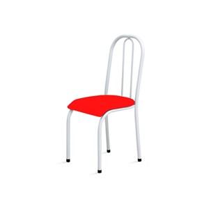 Kit 2 Cadeiras Baixas 0.104 Anatômica Branco/Vermelho - Marcheli