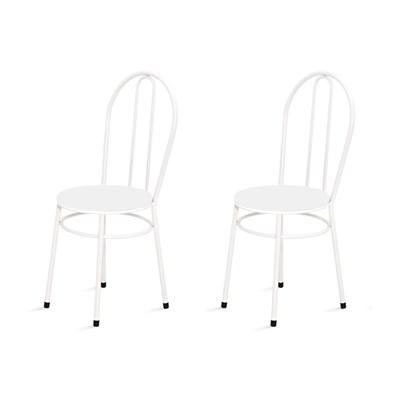 Kit 2 Cadeiras Baixas 0.134 Redonda Branco - Marcheli