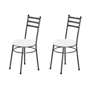 Kit 2 Cadeiras Baixas 0.135 Redonda Craqueado/Branco - Marcheli