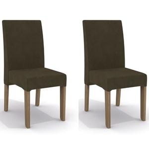 Kit 2 Cadeiras CAD107 para Sala de Jantar Nogal/Café - Kappesberg