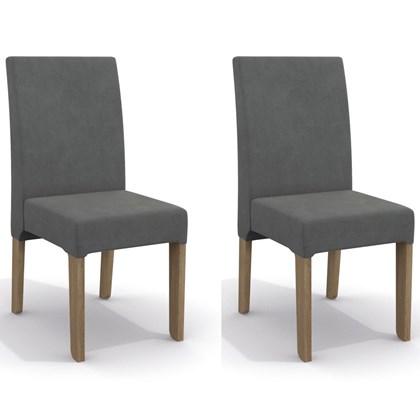 Kit 2 Cadeiras CAD107 para Sala de Jantar Nogal/Tornado - Kappesberg