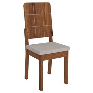 Kit 2 Cadeiras Dama para Sala de Jantar Dama Terrara/Bege - DJ Móveis