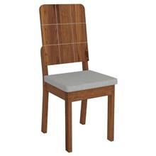 Kit 2 Cadeiras Dama para Sala de Jantar Dama Terrara/Claro - DJ Móveis