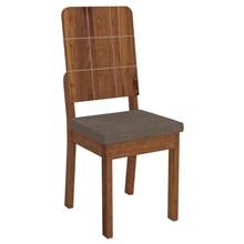 Kit 2 Cadeiras Dama para Sala de Jantar Dama Terrara/Marrom - DJ Móveis