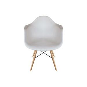 Kit 2 Cadeiras Eiffel Melbourne Branca com Pés Palito em Madeira - MP Decor