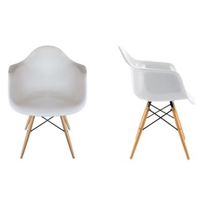Kit 2 Cadeiras Eiffel Melbourne F01 Branca com Pés Palito em Madeira - Mpozenato