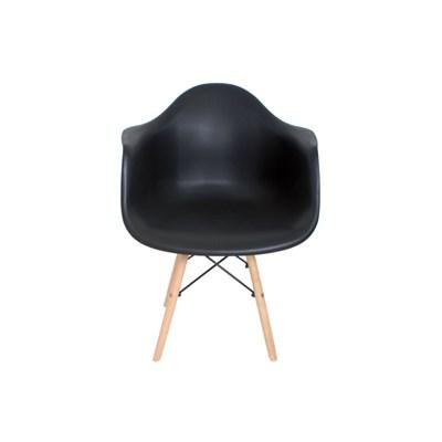 Kit 2 Cadeiras Eiffel Melbourne F01 Preta com Pés Palito em Madeira - Mpozenato