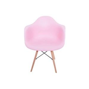 Kit 2 Cadeiras Eiffel Melbourne Rosa com Pés Palito em Madeira - MP Decor