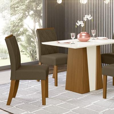 Kit 2 Cadeiras Estofadas para Sala de Jantar Vita Nature/Bege - Henn