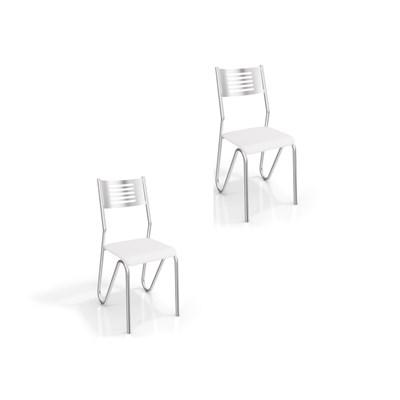 Kit 2 Cadeiras para Cozinha Nápoles com Assento Corano Branco - Kappesberg